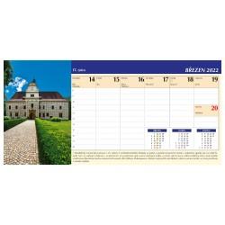Stolní kalendář 2022 - Čechy a Morava