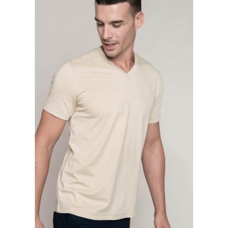 Pánské tričko kr.rukáv V-neck