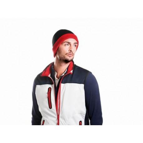 Dvoubarevná pletená čepice
