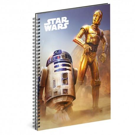 Spirálový blok Star Wars – Droid, linkovaný, A5