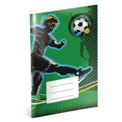 Fotbal - A5 školní sešit, čtverečkovaný
