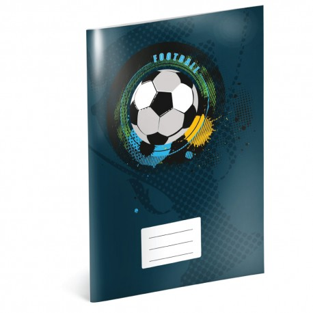 Fotbal - A4 školní sešit, čtverečkovaný