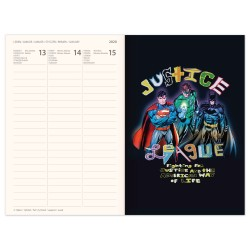 Diář JUSTICE LEAGUE týdenní B6 magnetický 2020