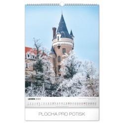 Nástěnný kalendář 2020 Hrady a zámky - s českými jmény