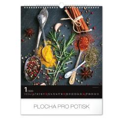Nástěnný kalendář 2020 Koření a bylinky