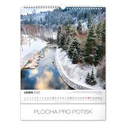 Nástěnný kalendář 2020 Vodní království - s českými jmény 2020
