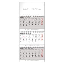 Nástěnný kalendář 2020 Standard 3mešíční skládací šedý - s českými jmény