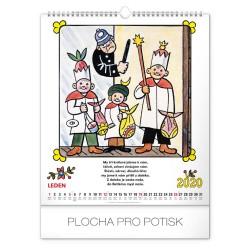 Nástěnný kalendář 2020  Josef Lada - říkadla