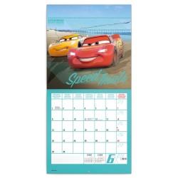 Nástěnný kalendář 2020 Auta 3 - s 50 samolepkami