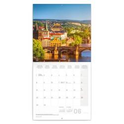 Nástěnný kalendář 2020 Praha - letní