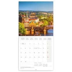 Nástěnný kalendář 2020 Praha - nostalgická