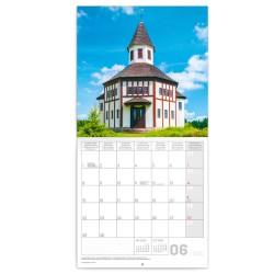 Nástěnný kalendář 2020 Česká republika Mini 18 x 18