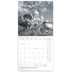 Nástěnný kalendář 2020 Paříž