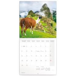 Nástěnný kalendář 2020 Lamy