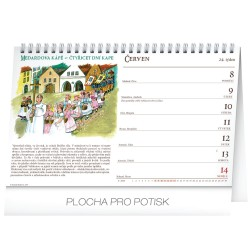 Stolní kalendář Staročeský kalendář - Kamila Skopová 2020